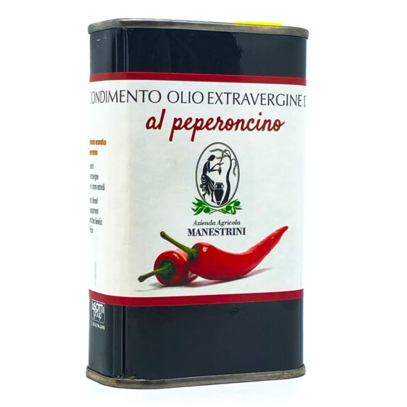 Olio Extra Vergine di Oliva al Peperoncino Lattina Manestrini Lago di Garda