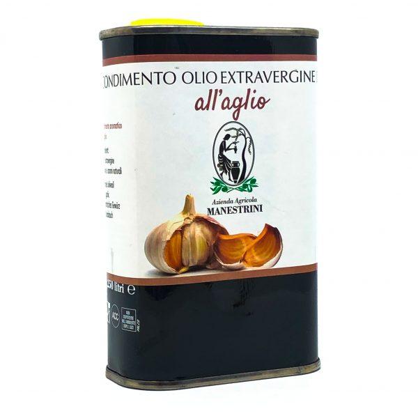 Olio Extra Vergine di Oliva all'Aglio Lattina Manestrini Lago di Garda