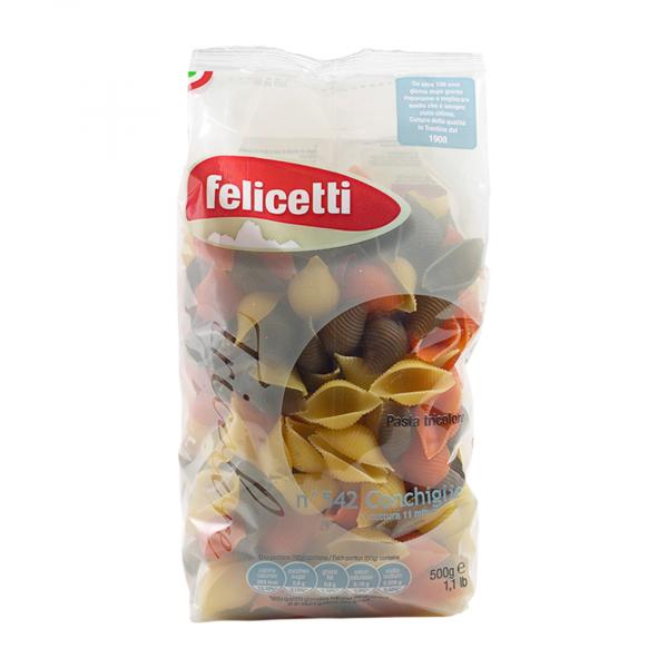 Conchiglie Tricolore Felicetti Pasta di Grano Duro