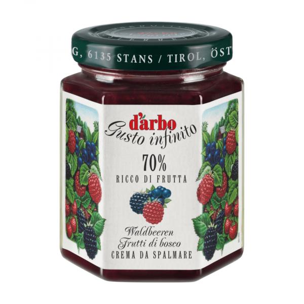 Crema di Frutti di Bosco Darbo 70% 200g