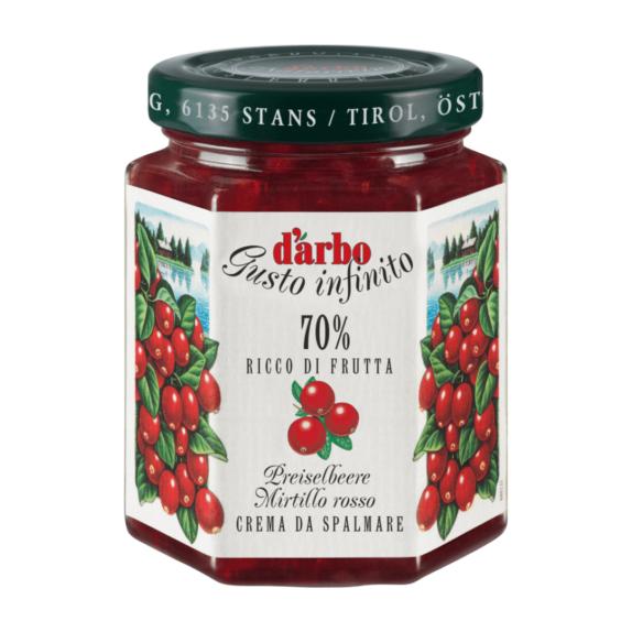 Crema di Mirtilli Rossi Darbo 70% 200g